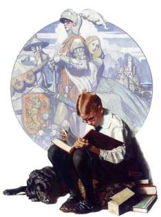 norman rockwel-leer-libros-books